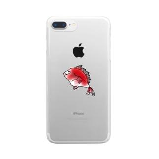 めで鯛 Clear smartphone cases