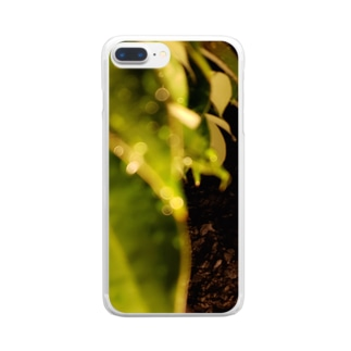 夜の葉 Clear smartphone cases