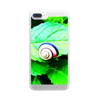 カタツムリ君 Clear smartphone cases