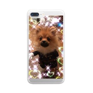 ポメちゃん💖 Clear smartphone cases