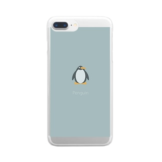 Penguin Clear smartphone cases