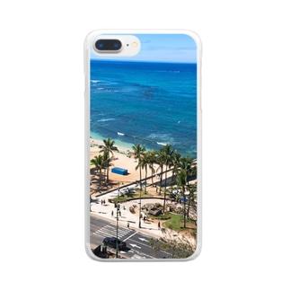ワイキキビーチ Clear smartphone cases