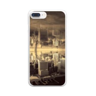 反転した街 Clear smartphone cases