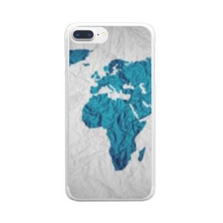 氷と水の世界地図 Clear smartphone cases