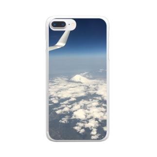 富士の高嶺に雪は降りつつ Clear smartphone cases