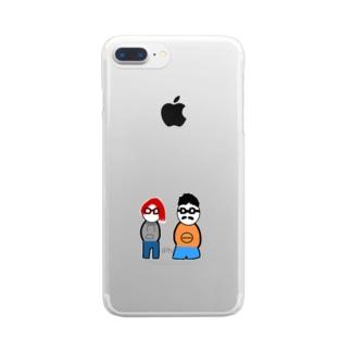 いつも仲良し Clear smartphone cases