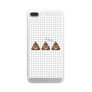 うんちシリーズ💩💩💩 Clear smartphone cases