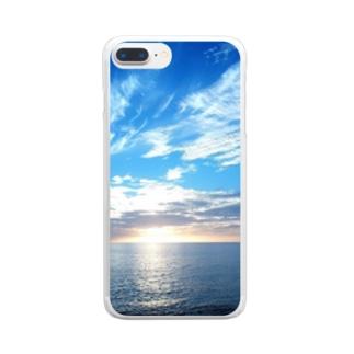 南国絶景 Clear smartphone cases