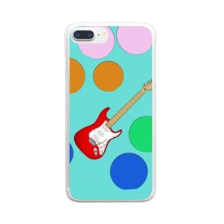 水玉エレキ Clear smartphone cases