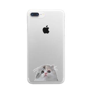 こねこのいくら Clear smartphone cases