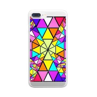 みにゃ次郎のステンドグラス Clear smartphone cases