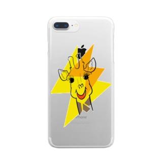 きりんさんとイナズマ Clear smartphone cases