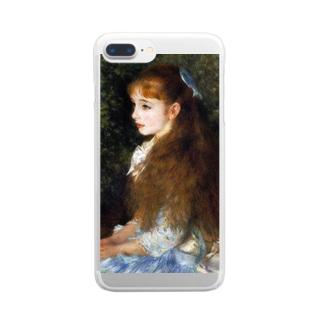 ルノワール 『 イレーヌ・カーン・ダンヴェール嬢 』 Clear smartphone cases