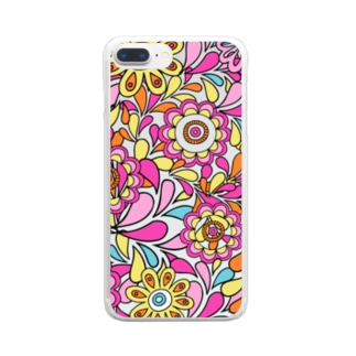 Flower Clear smartphone cases
