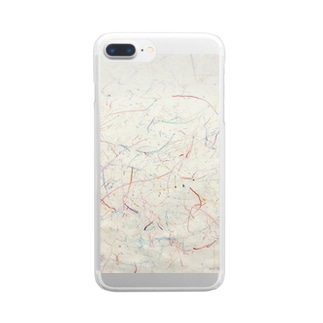 はじめてのおえかき。 Clear smartphone cases
