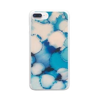 Seto 地図の色 Clear smartphone cases