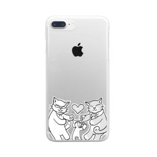 にゃーん Clear smartphone cases