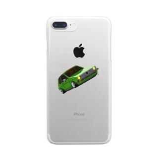 Slammed car② Clear smartphone cases