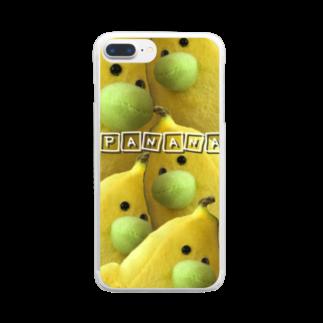 rararaaaaのpanana Clear smartphone cases