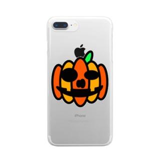 ハロウィンのあいつ Clear smartphone cases