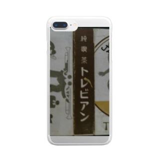 レトロTOKIO 純喫茶トレビアン Clear smartphone cases