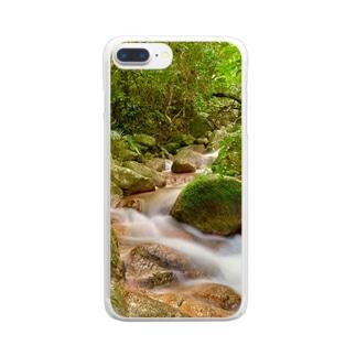 荒川の滝 Clear smartphone cases