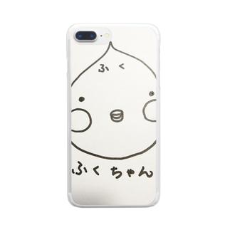 かわいい ふくちゃん Clear smartphone cases