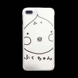 ふくふくのかわいい ふくちゃん Clear smartphone cases