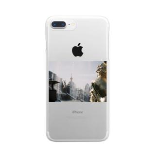 黄金の背中 Clear smartphone cases