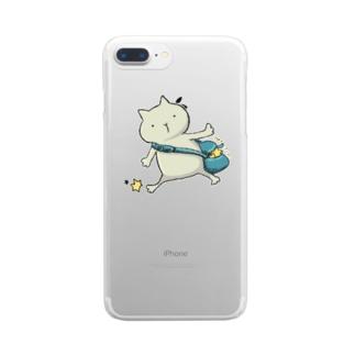 星集めねこちゃん Clear smartphone cases