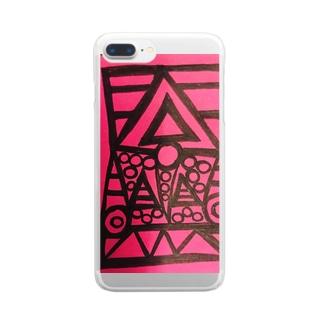 アート Clear smartphone cases