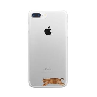 ぐーたらTa-nan Clear smartphone cases
