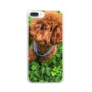 我が家のお犬様 Clear smartphone cases