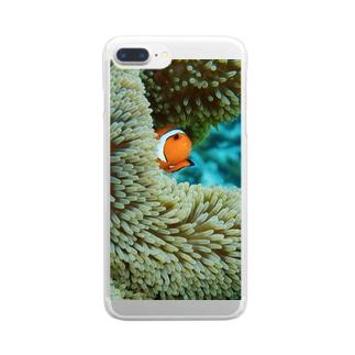 カクレテナイクマノミ Clear smartphone cases