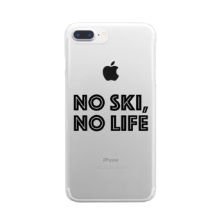 NO SKI, NO LIFE Clear smartphone cases