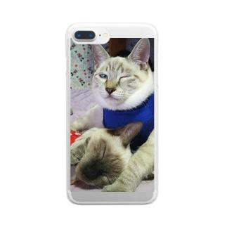 cahaco's shopのましゅー&ゆず Clear smartphone cases