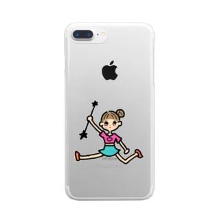 バトンガール Clear smartphone cases