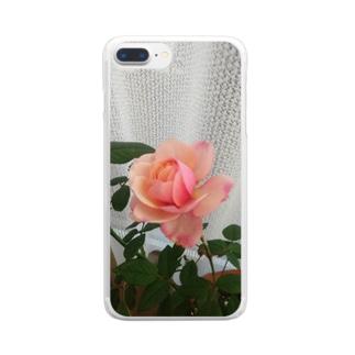 愛の花シリーズ Clear smartphone cases