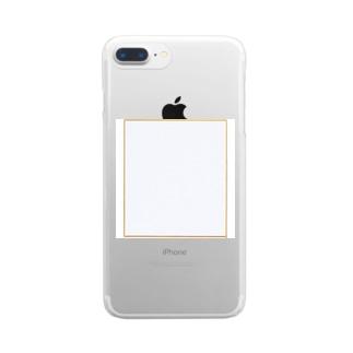 なべじょうのお店のサイン色紙シリーズ Clear smartphone cases