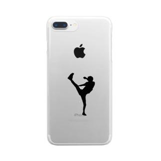 KISK KICK サッカー テコンドー キックボクシング Clear smartphone cases