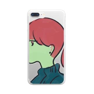 僕の彼女 Clear smartphone cases