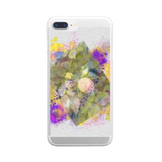 バラとドット Clear smartphone cases