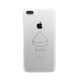 秋の味覚、栗。 Clear smartphone cases