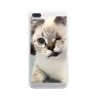 マー君スマホケース Clear smartphone cases