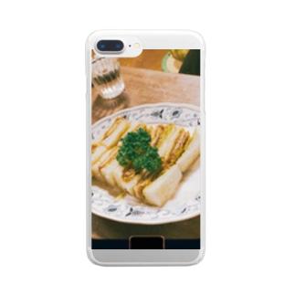 お婆ちゃんのカツサンド Clear smartphone cases