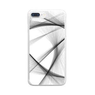 斜線 Clear smartphone cases