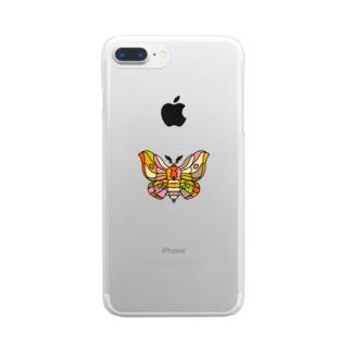 Beautiful moth (綺麗な蛾) Full of vitality (フル オブ バイタリティ) Clear smartphone cases