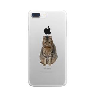 反省きなこ Clear smartphone cases