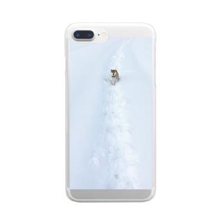 冬がきた。 Clear smartphone cases