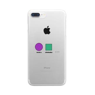 色々な形の集まり Clear smartphone cases